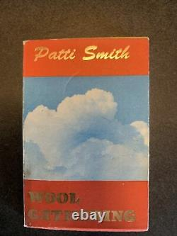 Patti Smith Wool Gathering Rare 1992 First Edition Hanuman Books Amazing