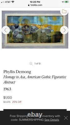 Phyllis Demong Original Painting Art BONE MACABRE SKELETON GOTHIC SKULL Poetry