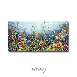 Poem Flower by Daniel Lager Gallery-Wrapped Canvas Giclee Art, 18 in x 36 in