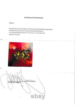 Poem untitled 30 x 30 cm (12x12 inches) 2011 with COA US Graffiti