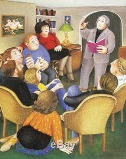 Poetry Reading Beryl Cook Limited Edition Print