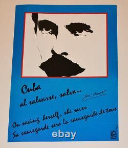 Political OSPAAAL Solidarity Original 1992 Cuban POSTER. Jose Marti poem. History