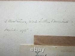 REGINALD HALLWARD, Rare ROMANTIC Painting With POETRY by J J GUTHRIE c. 1915