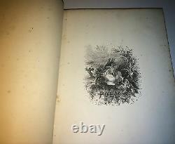 Rare Antique Victorian American The Culprit Fay Poem Book! Engravings! 1866! Art