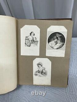 Rare Victorian English 1865 Vanity Scrapbook Poetry Art Book W. And H. Block LDN