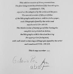 Robert Motherwell Tres Poems # 10 Original Lithograph 1987 Free Ship Us