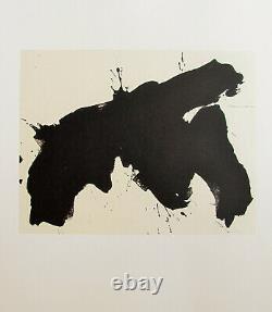 Robert Motherwell Tres Poems # 15 Original Lithograph 1987 Free Ship Us