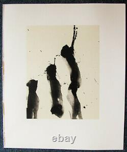 Robert Motherwell Tres Poems # 3 Original Lithograph 1987 Free Ship Us