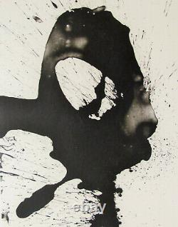 Robert Motherwell Tres Poems # 5 Original Lithograph 1987 Free Ship Us