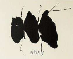 Robert Motherwell Tres Poems # 6 Original Lithograph 1987 Free Ship Us