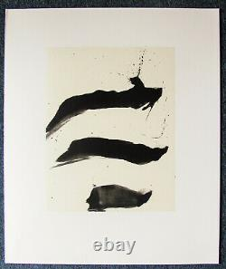 Robert Motherwell Tres Poems # 7 Original Lithograph 1987 Free Ship Us