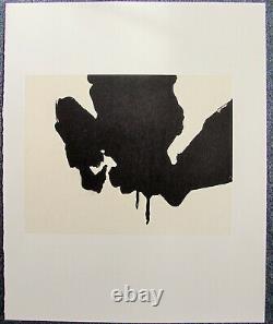 Robert Motherwell Tres Poems # 9 Original Lithograph 1987 Free Ship Us
