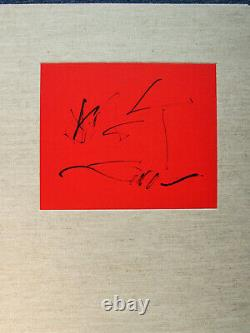 Robert Motherwell Tres Poems Cover Original Lithograph 1987 Free Ship Us