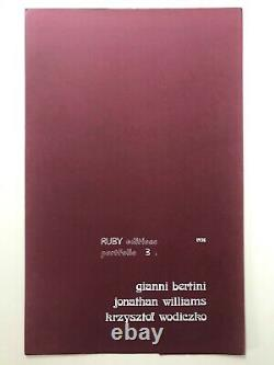 Ruby Editions Portfolio (3) 64/100, 1975 Henri Chopin Gianni Bertini Poetry Moma