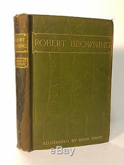SCARCE 1904 Poems by Robert Browning Byam ShawART NOUVEAU Pre-Raphaelite CRA