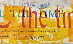 SIDNEY CHAFETZ Original SIGNED Screenprint & Woodcut e. E. Cummings Poetry 17/30