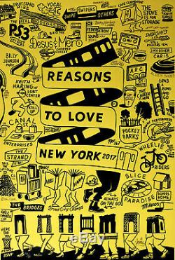 STEVE POWERS Reasons to Love New York print street poetry lowbrow art NYC City