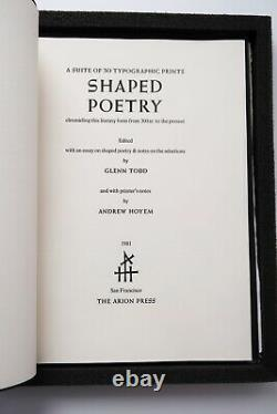 Shaped Poetry Arion Press Limited Typographic Art Book Dieter Roth Apollinaire