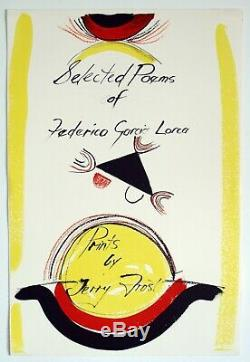 Sir Terry Frost (1915-2003) Lithograph. Selected Poems of Frederico Garcia 1989