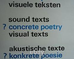 Stedelijk Museum # CONCRETE POETRY # Wim Crouwel design, 1970, B++
