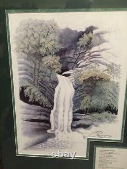 Susan Morrison Eureka Springs Waterfall art print signed & numbered poem 87