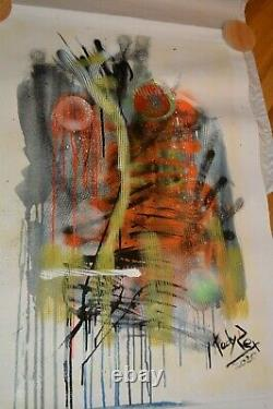 Tadas Zaicikas Poem of Sunrise #6 23x35 Acrylic Painting on Canvas Unique