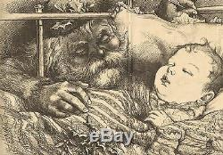 Th. Nast Santa, Another Stocking To Fill, withpoem, Dbl Pg 1880 Antique Art Print