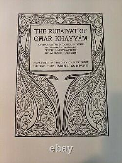 The Rubaiyat of Omar Khayyam, Translated by Edward Fitzgerald 1905 Arts Crafts