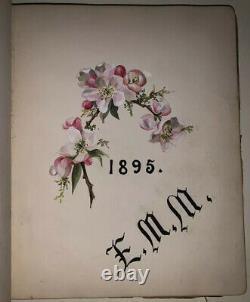 Unique, 1895, Album Of Beautiful Original Art, Emile Puttaert, Manuscript Poems