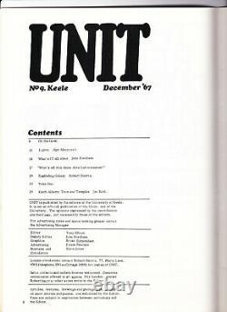 Unit & Poem Machine Dec 1967 Yoko Ono Keele University Underground Arts Magazine