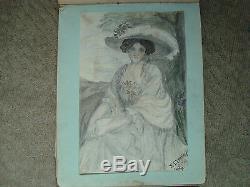 Vintage 1911-1914 Leeds Girls High School Sketch Book Drawings Poems Art Work
