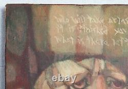 Vintage 1960s Peter Matosian Witter Bynner Poem Abstract Surrealist Painting