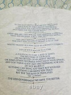 Vintage 90s Ralph Waldo Emerson T Shirt Art Poet Poetry Writer Philosophy XL