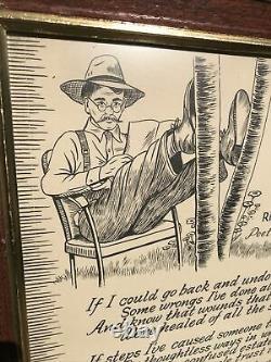 Vintage If I. Poem by Richard M. Pek Gunn Signed Poet Laureate of Tennessee