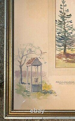 WPA ARTIST SIGNED ERNEST CRAMER 1930s PAINTING REMARQUES WALT WHITMAN COLLECTION