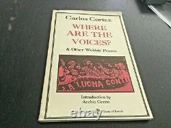 Where Are The Voices & OTHER WOBBLY POEMS By Carlos Cortez Signed With Art